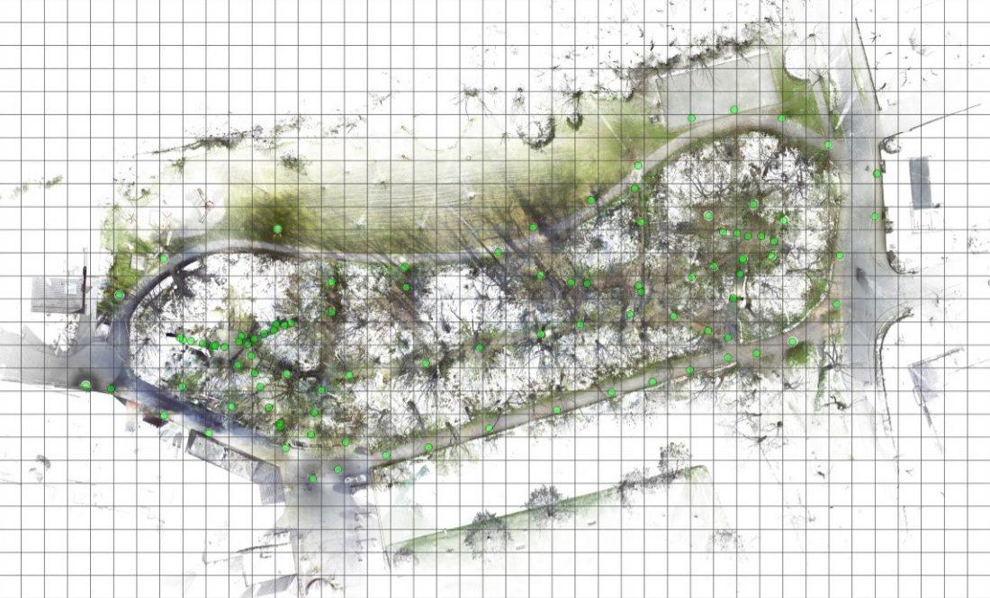 3D-Laserscanning 3D-Vermessung Aufmaß Grundriss Punktwolke Burgwall Kasematten Moers Brüggen NRW