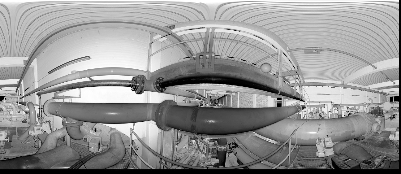 3D-Laserscanning 3D-Vermessung Aufmaß Punktwolke Wasserwerk Filterkammer Moers Wuppertal NRW