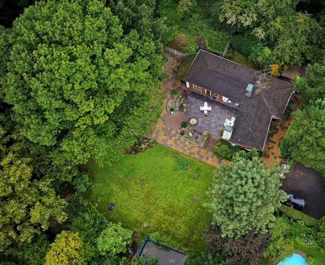 Luftbildaufnahme Flugroboter UAV Luftbild Immobilie Moers Niederrhein NRW